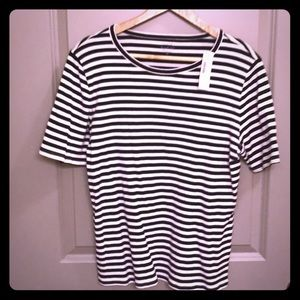 Slim perfect T-shirt in stripe